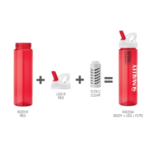 25 oz. PET Bottle With Flip Spout & Filter
