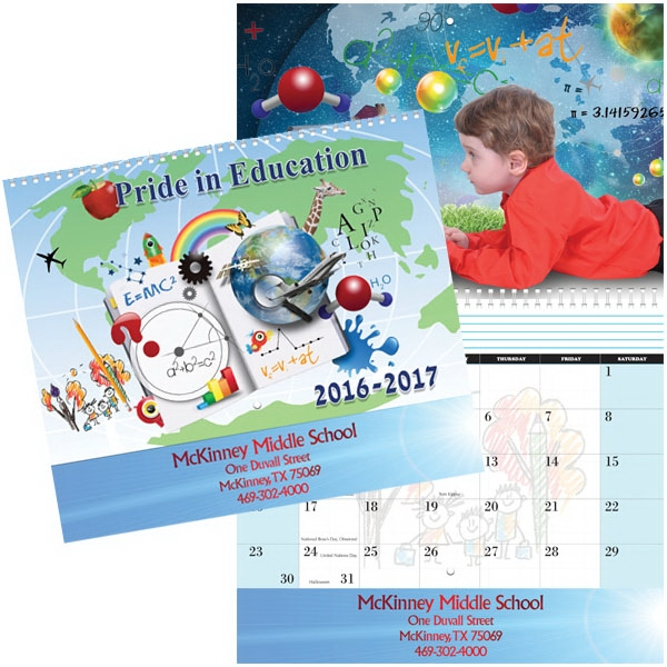 Pride In Education Spiral Wall Calendar