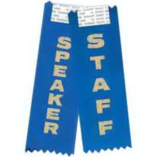 Identification Ribbon - Identification ribbon with pinked top and bottom, adhesive on front of ribbon