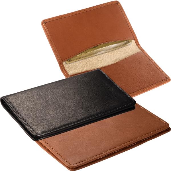 Alpine Card Case (Sueded Full-Grain Leather) - Sueded full grain leather card case with suede lining.
