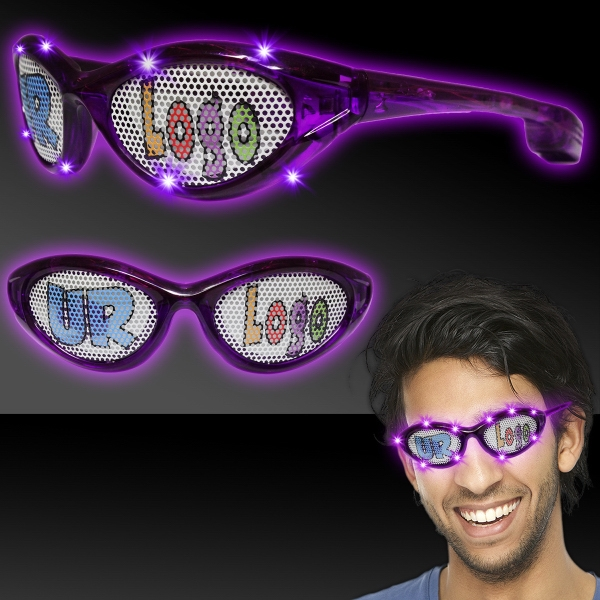 Purple Custom LED Billboard Sunglasses