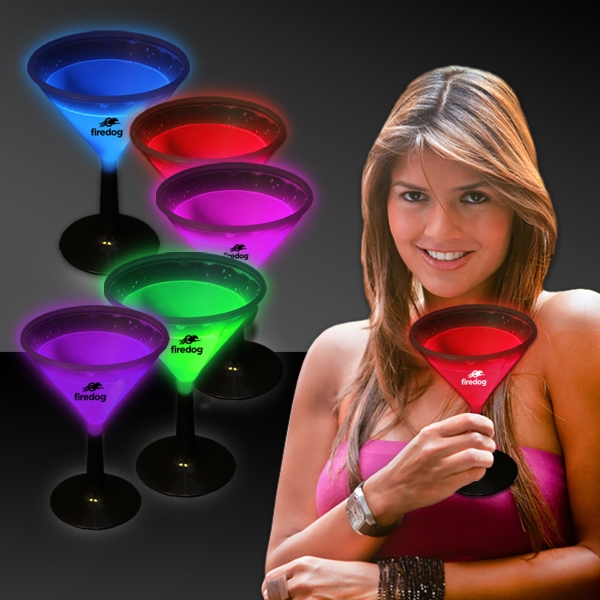 9 oz. Light Up Glow Martini Glass