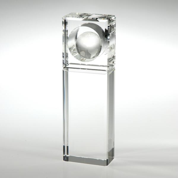 "Award-Absolute Globe Trophy 8 1/2"""