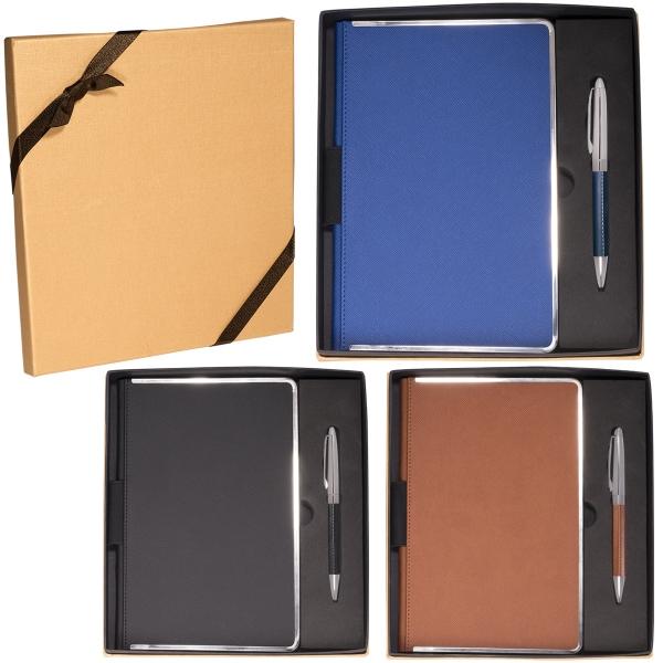 Naples™ Metallic-Trim Journal & Pen Gift Set
