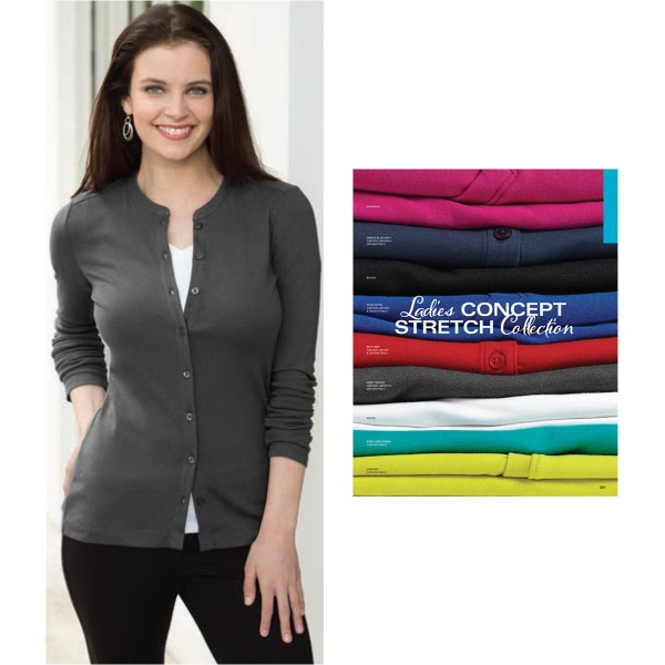 Port Authority® Ladies' Stretch Button-Front Cardigan