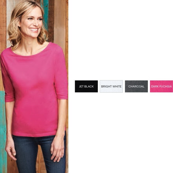 District Made® Women's Perfect Weight® 3/4-Sleeve Tee