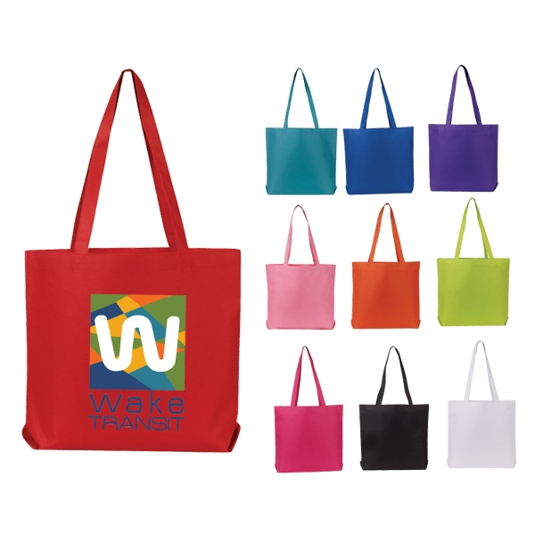 Matching self fabric handles; Large imprint area Tote