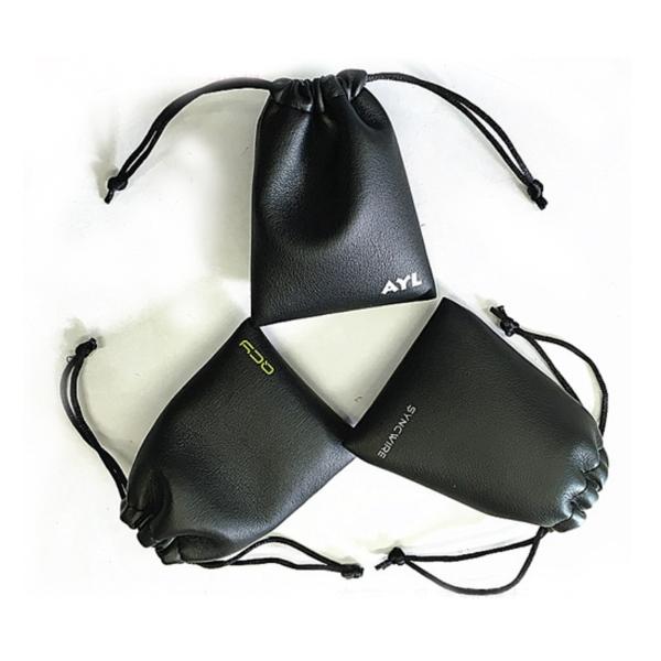 PU Leather Drawstring Bag Wrist Wallet