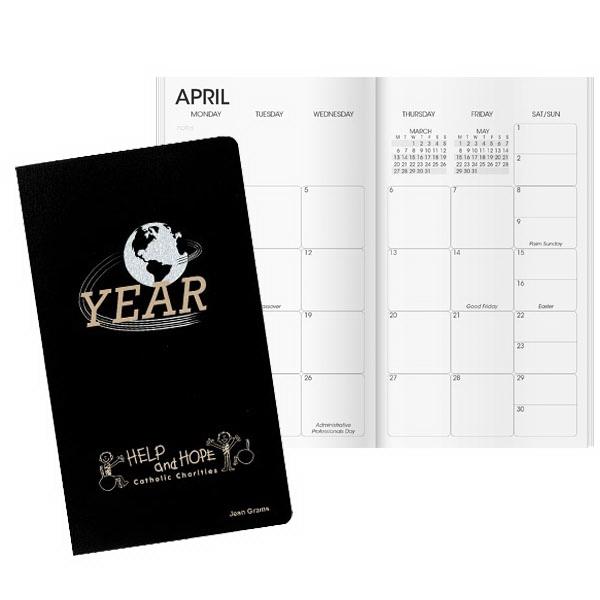 Inspire Global Pocket Planner - Vinyl pocket planner with choice of calendar insert.