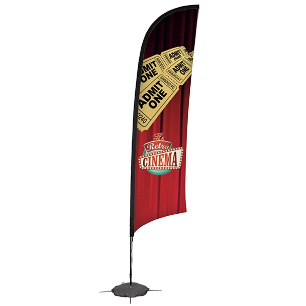 24 Hour Quick Ship 13' Razor Sail Sign Banner Kit One-Sided