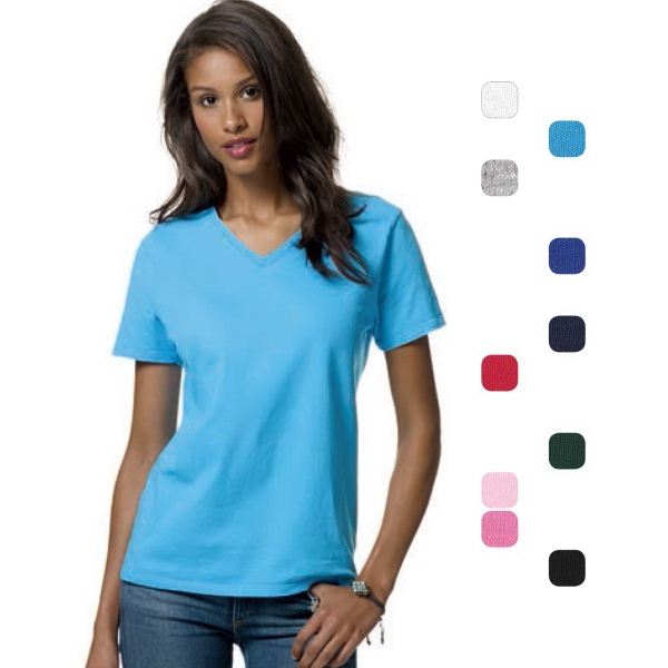 Hanes® Ladies' Comfortsoft® V-Neck T-Shirt