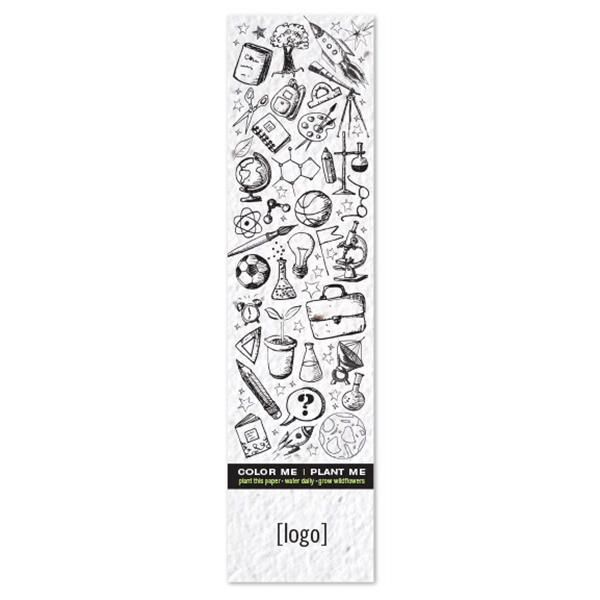 Seed Paper Coloring Bookmark