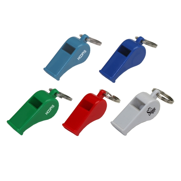 Plastic Whistle Keyring
