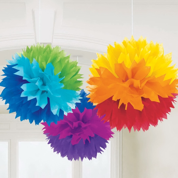 Rainbow Fluffy Decorations