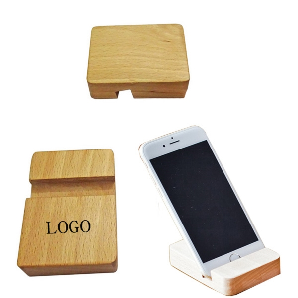 Wooden Block Phone Holder