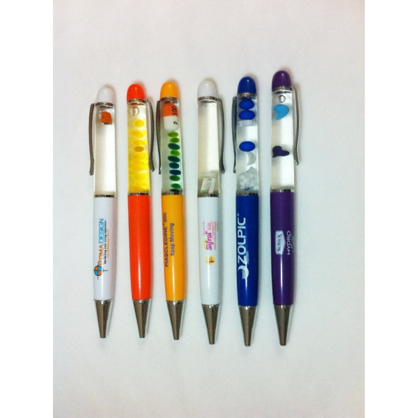 Custom Liquid Floater Ballpoint Pen