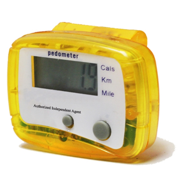 Clear View Pedometer V2 - Yellow