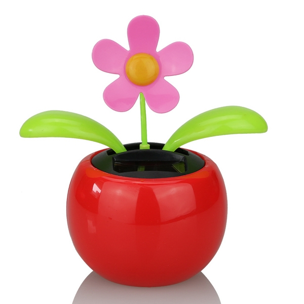 Red Solar Powered Dancing Flower