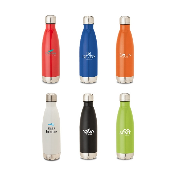 Solana 17 oz. 304 Stainless Steel Vacuum Bottle with Copp...