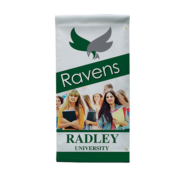 "18"" x36"" 18 oz Opaque Material Boulevard Single-Sided Banner"