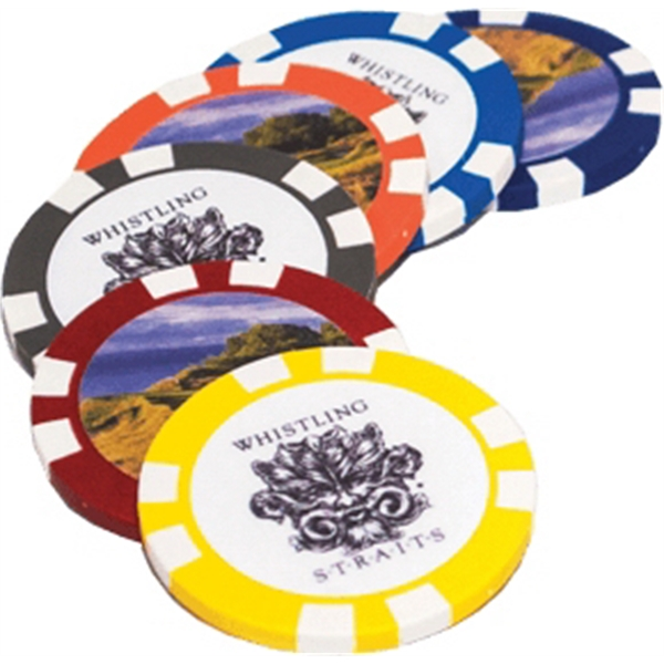 Poker Chip with 2 Sided Print