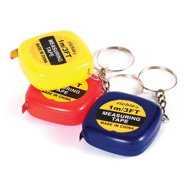 Portable Mini 1 Meter Tape Measure Keychain