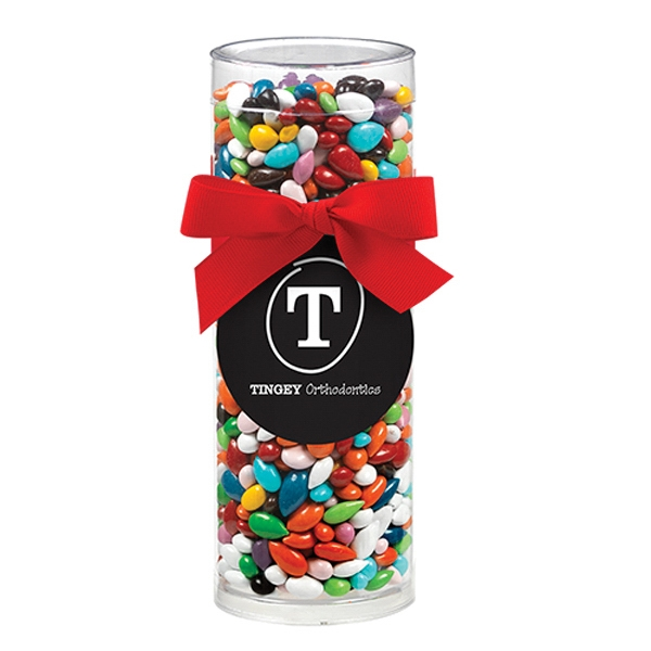 Gift Tube with Chocolate Covered Sunflower Seeds / Gemmies