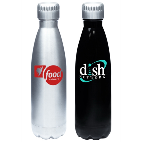 17 oz. Stainless Steel Levain Cola Shaped Bottles