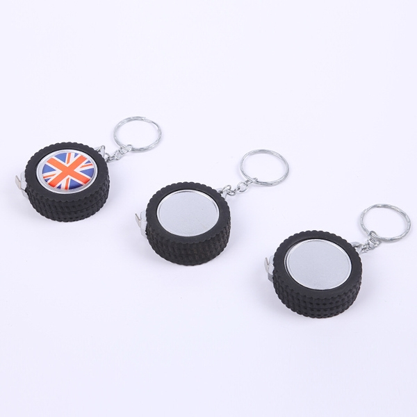 Tyre Shaped Tape Measure Keychain