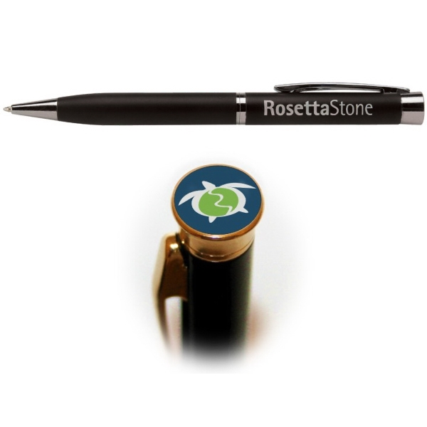 982  Amesbury™ Black Photo Dome Pen