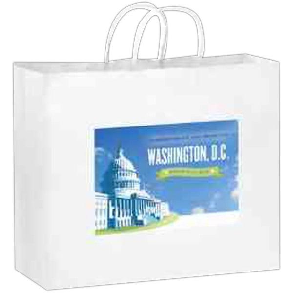 White Kraft Paper Shopper Bag in CMYK - Color Evolution