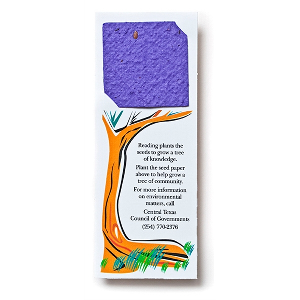 Seed Paper Square Bookmark