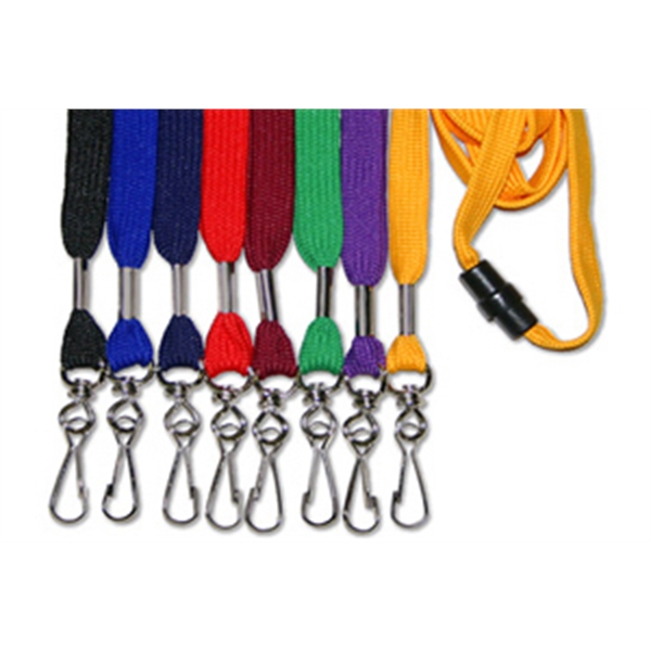 "Blank 3/8"" Flat Lanyard with Safety breakaway attachment"