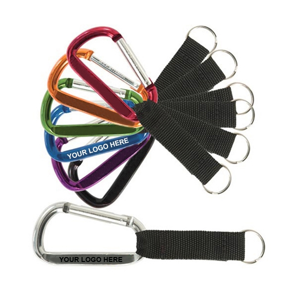 Small Carabiner with Strap
