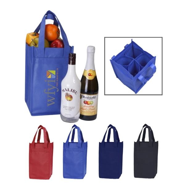1 to 4 Bottle Multipurpose Wine Tote Bag