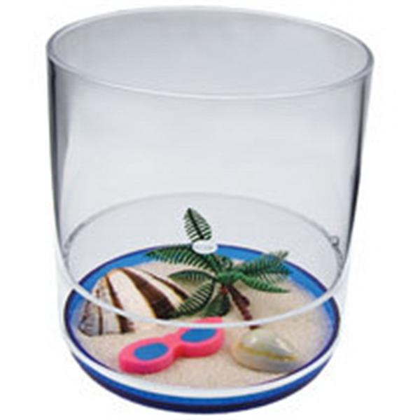 12oz. Plastic Compartment Tumbler - Beach Themes