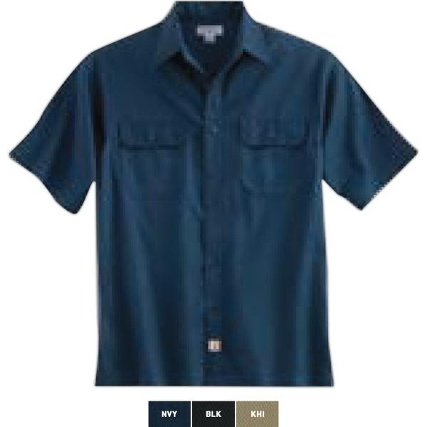 Twill Short-Sleeve Work Shirt