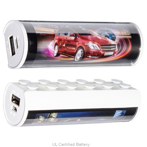 Glowing 2200mAh Power Bank with Phone Holder