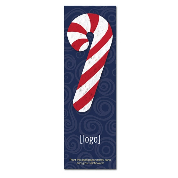 Small Seeded Shape Holiday Bookmark: 3 stock designs