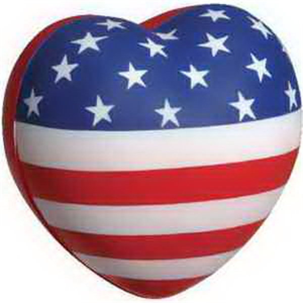 Patriotic Stress Reliever flag heart