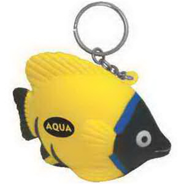 Tropical Fish Key Chain Stress Reliever