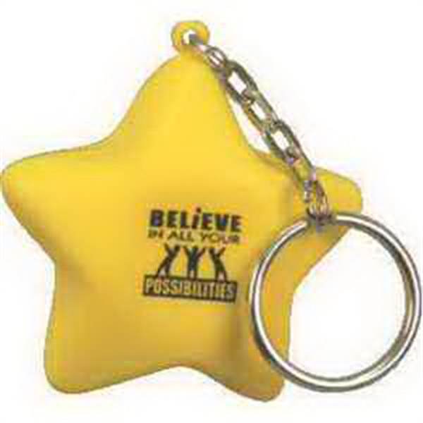 Star Key Chain Stress reliever