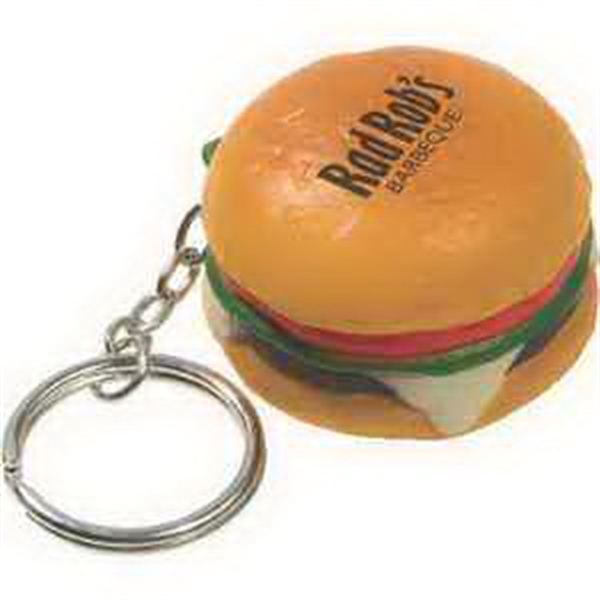 Hamburger Key Chain Stress Reliever