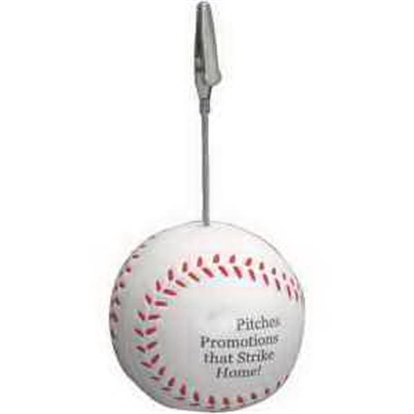 Baseball Memo Holder Stress Reliever