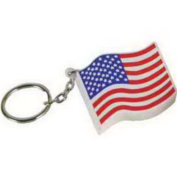 US Flag Key Chain Stress Reliever
