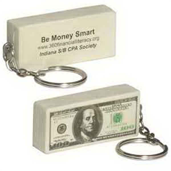100 Dollar Bill Key Chain Stress Reliever