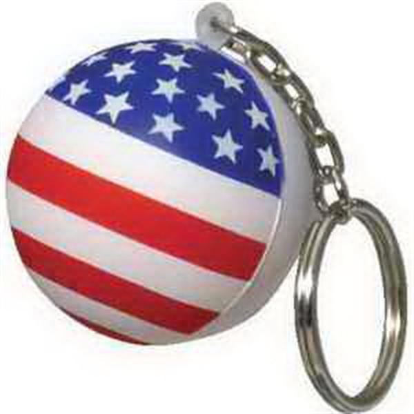 Patriotic Stress Ball Key Chain