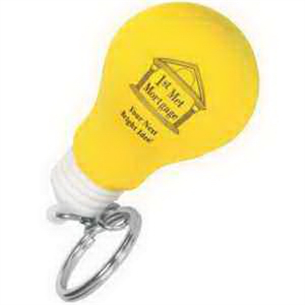 Lightbulb Key Chain Stress Reliever