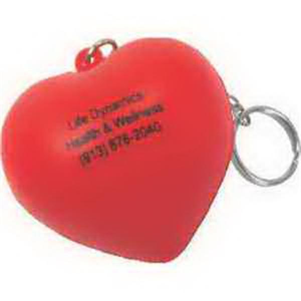 Valentine Heart Key Chain Stress Reliever
