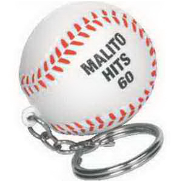 Baseball Key Chain Stress Reliever